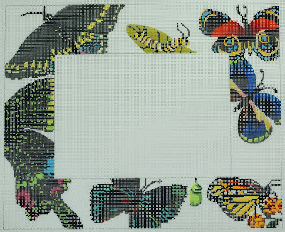 click here to view larger image of Butterfly Frame (hand painted canvases)