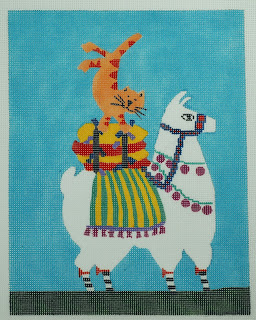 click here to view larger image of Cat And Llama (hand painted canvases)