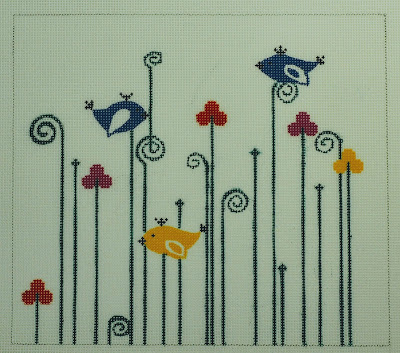 click here to view larger image of Birds and Buds (hand painted canvases)