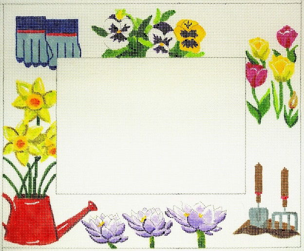 click here to view larger image of Gardening Frame (hand painted canvases)