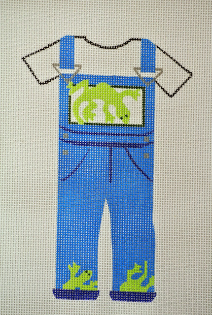 click here to view larger image of Gecko Overalls (hand painted canvases)