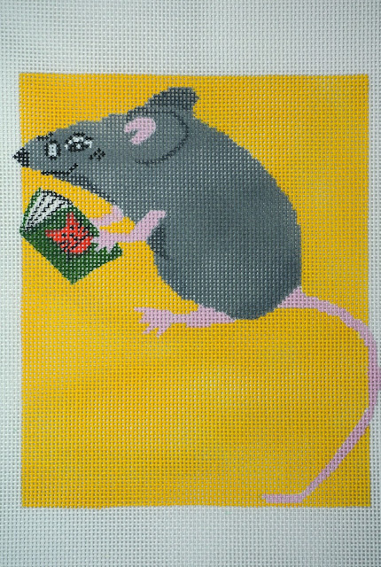 click here to view larger image of Book Mouse (hand painted canvases)
