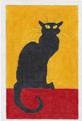 click here to view larger image of Large Chat Noir (hand painted canvases)