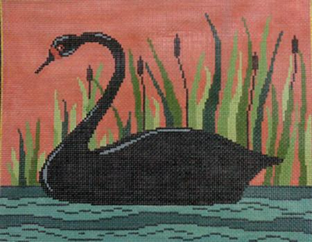 click here to view larger image of Black Swan (hand painted canvases)