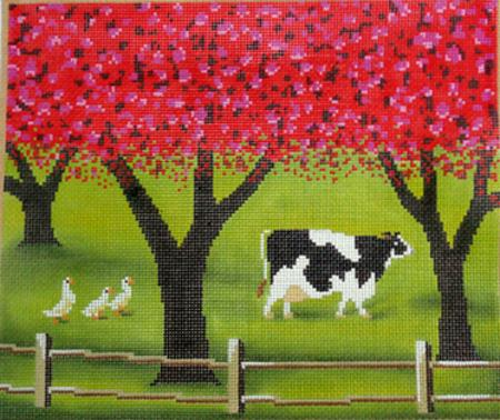 click here to view larger image of Spring Cow (hand painted canvases)