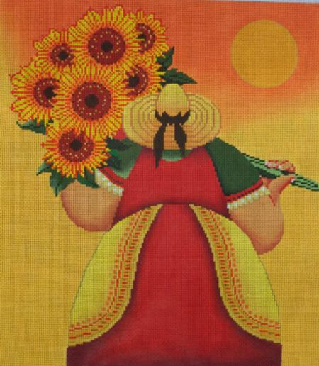 click here to view larger image of Sunflower Harvest (hand painted canvases)