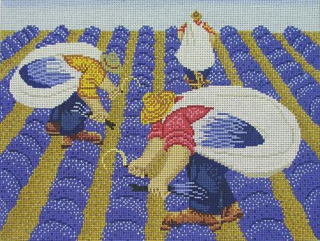 click here to view larger image of Lavender Harvest (hand painted canvases)