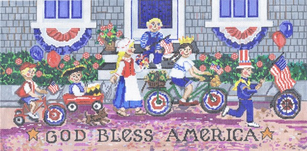 click here to view larger image of God Bless America (hand painted canvases)