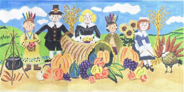 click here to view larger image of Happy Thanksgiving (hand painted canvases)