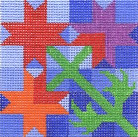 click here to view larger image of 8 Pointed Star 3 (hand painted canvases)