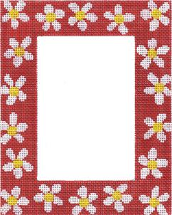 click here to view larger image of Red Daisy Frame (hand painted canvases)