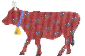 click here to view larger image of Red Cow (hand painted canvases)