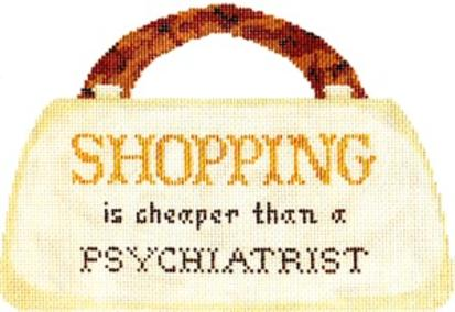 click here to view larger image of Shopping Is (hand painted canvases)