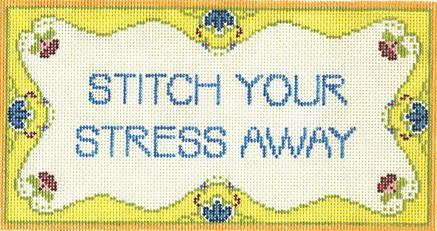 click here to view larger image of Stitch Your Stress (hand painted canvases)