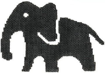 click here to view larger image of Large Elephant (hand painted canvases)