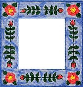 click here to view larger image of Floral Frame (hand painted canvases)