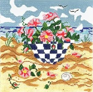 click here to view larger image of Beach Bowl (hand painted canvases)