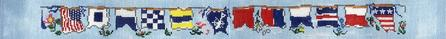 click here to view larger image of Flag Luggage Straps (Set of 3) (hand painted canvases)