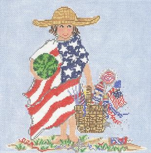 click here to view larger image of America Girl (hand painted canvases)