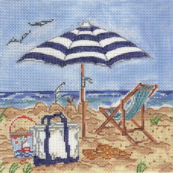 click here to view larger image of Beachtime (hand painted canvases)