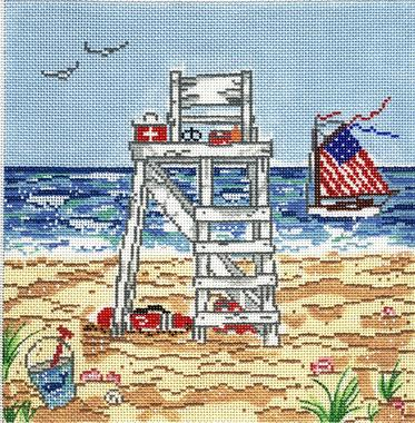click here to view larger image of Summer Job (hand painted canvases)