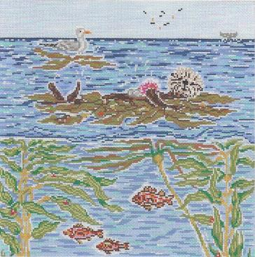 click here to view larger image of Floating Sea Otter (hand painted canvases)