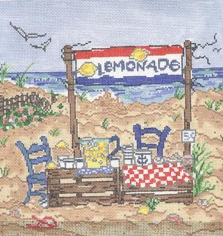click here to view larger image of Lemonade Stand (hand painted canvases)