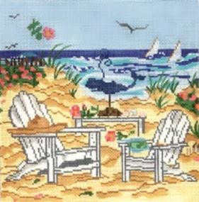 click here to view larger image of Beach Adirondack Chairs (hand painted canvases)