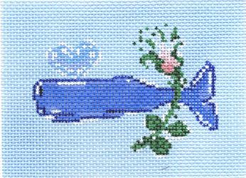 click here to view larger image of Whale With Flower (hand painted canvases)