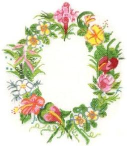 click here to view larger image of Hawaiian Flower Frame (hand painted canvases)