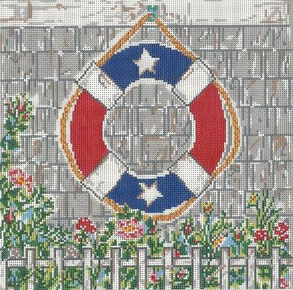 click here to view larger image of Red/White/Blue Nautical (hand painted canvases)