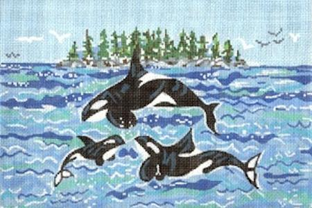 click here to view larger image of Orca Family (hand painted canvases)