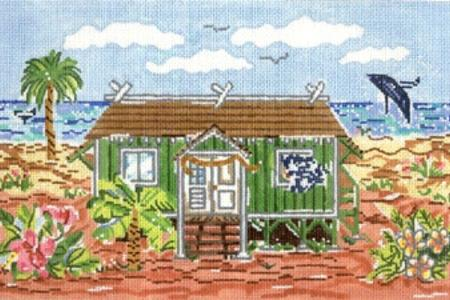 click here to view larger image of Hawaiian Cottage (hand painted canvases)