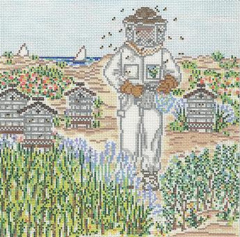 click here to view larger image of Bee Keeper (hand painted canvases)