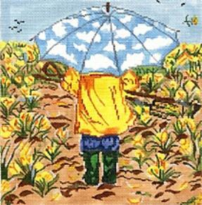 click here to view larger image of April Showers (hand painted canvases)