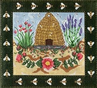 click here to view larger image of Border Bee Skep (hand painted canvases)