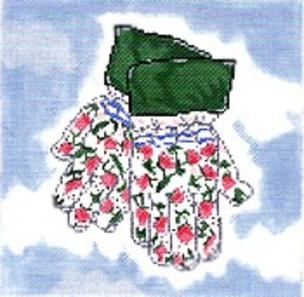 click here to view larger image of Rosebud Gloves (hand painted canvases)