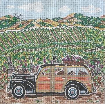 click here to view larger image of Vineyard Woody - 13ct (hand painted canvases)