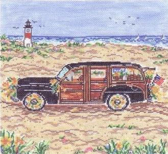 click here to view larger image of Island Woody - 13ct (hand painted canvases)