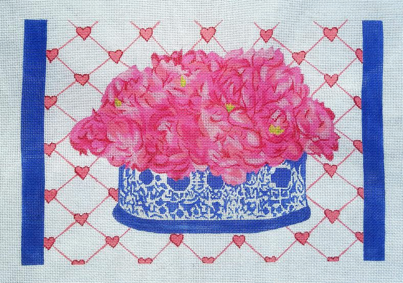 click here to view larger image of Peonies - 13ct (hand painted canvases)