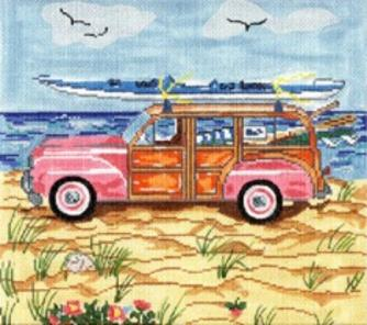 click here to view larger image of Summer Woody - 13ct (hand painted canvases)