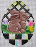 click here to view larger image of Black and White Egg - Chocolate Bunny (hand painted canvases)
