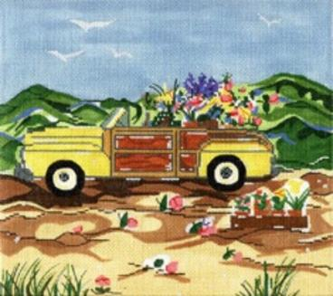 click here to view larger image of Spring Woody - 13ct (hand painted canvases)