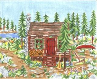 click here to view larger image of Mountain Cabin (hand painted canvases)