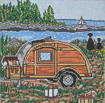 click here to view larger image of Nova Scotia Woody - 13ct (hand painted canvases)