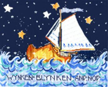 click here to view larger image of Wynken Blynken and Nod (hand painted canvases)