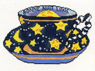 click here to view larger image of Bonne Nuit Lune Cup (hand painted canvases)