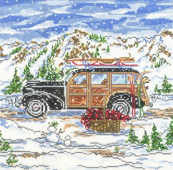 click here to view larger image of Winter Woody - 13ct (hand painted canvases)