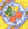 click here to view larger image of Lemon and Orange Plate - 18ct (hand painted canvases)