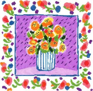 click here to view larger image of Marigolds For Madeline (hand painted canvases)
